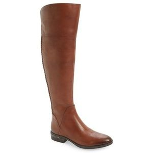 Vince Camuto Pedra Knee High Cognac Boots Size 7